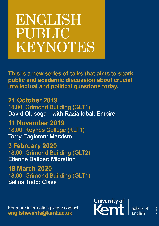 Programme of Public Keynotes