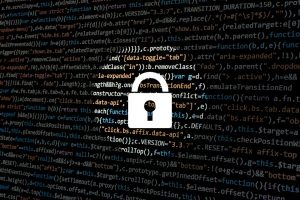 padlock over programming language