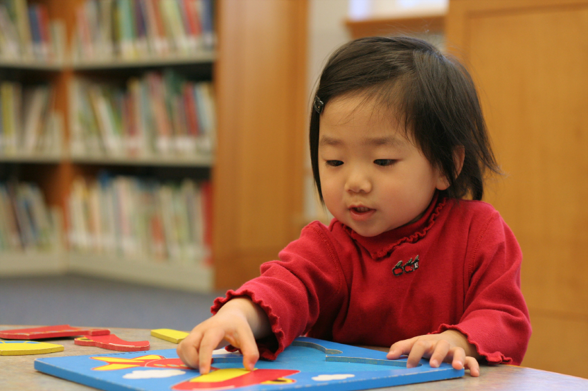 Photo of a child playing