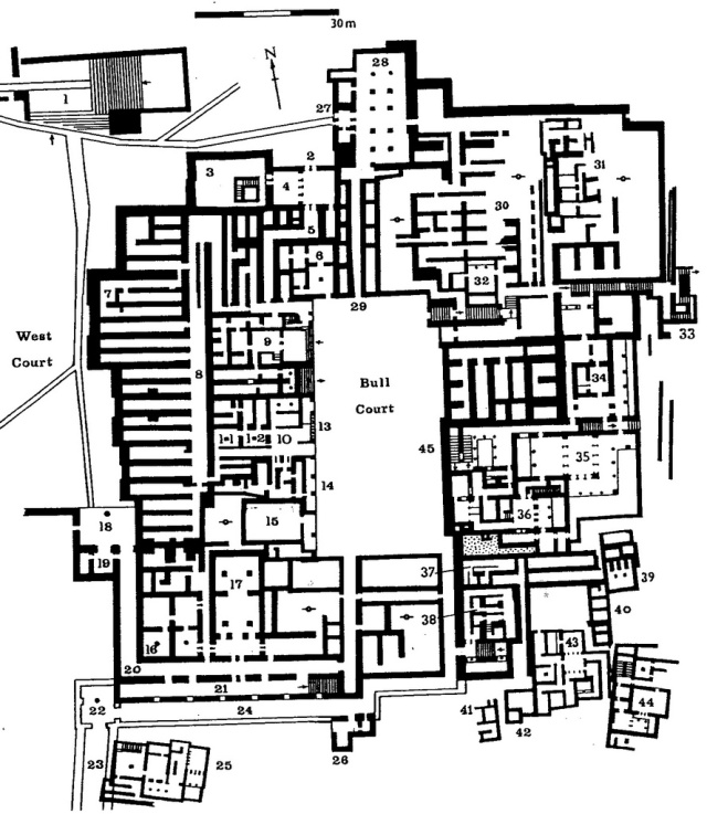 An aerial map of buildings