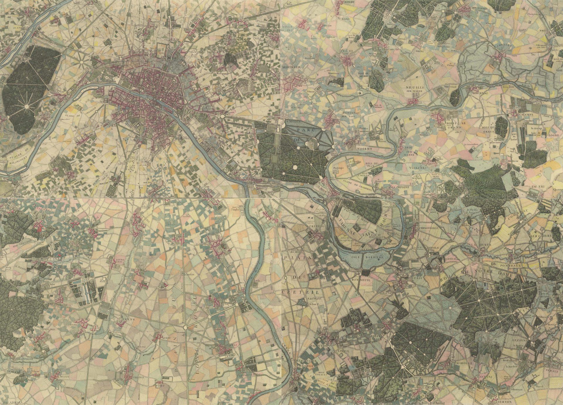 Delagrive Environs de Paris levés géométriquement