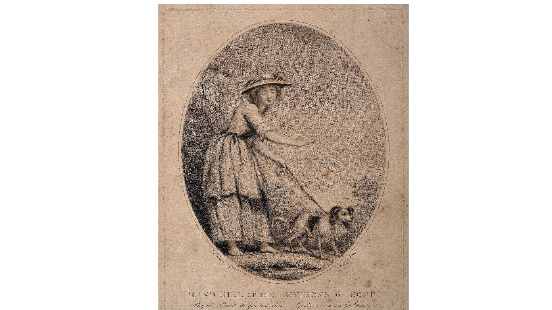 Visually impaired girl, 1785