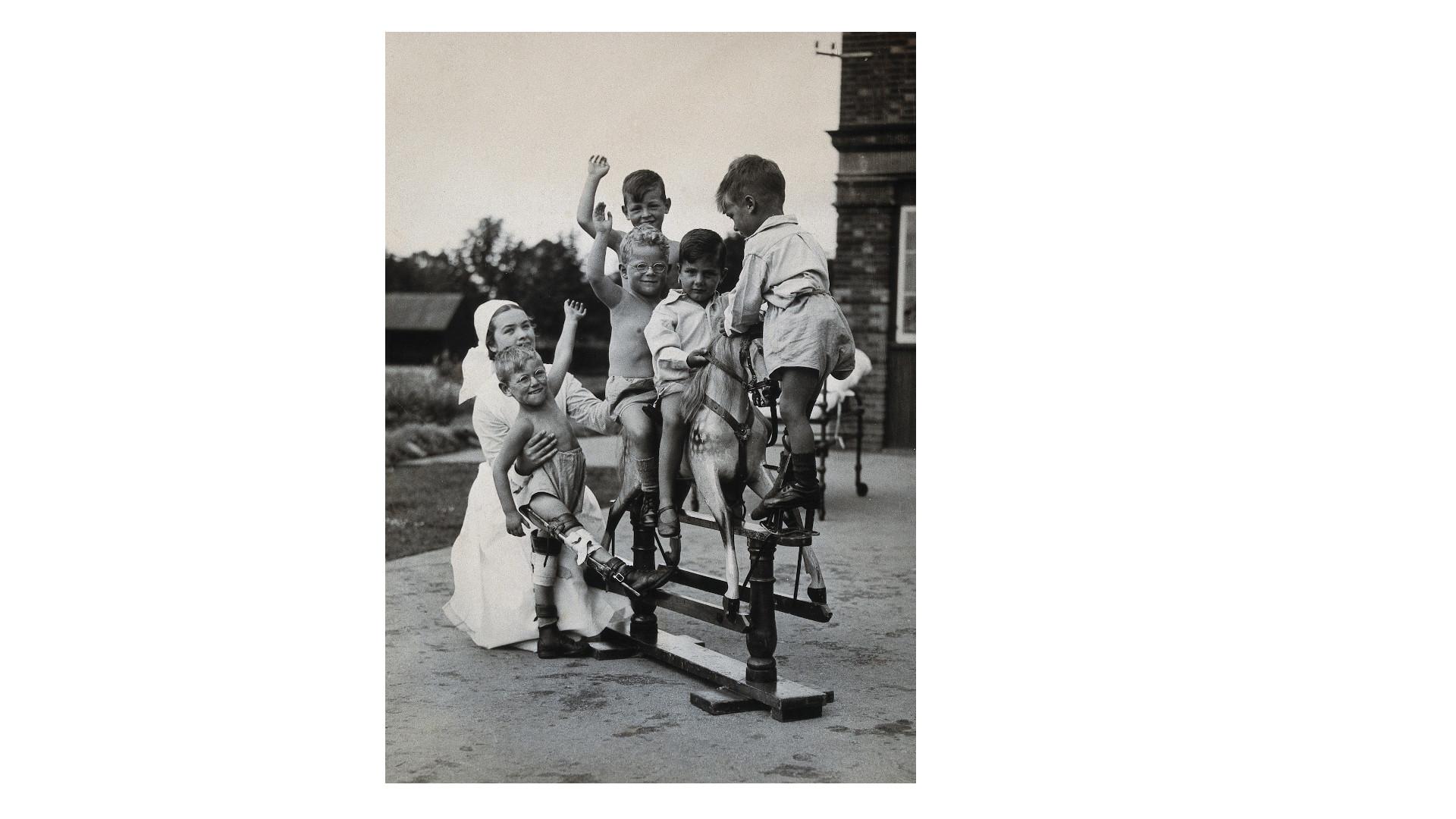 Children playing, Surrey 1935