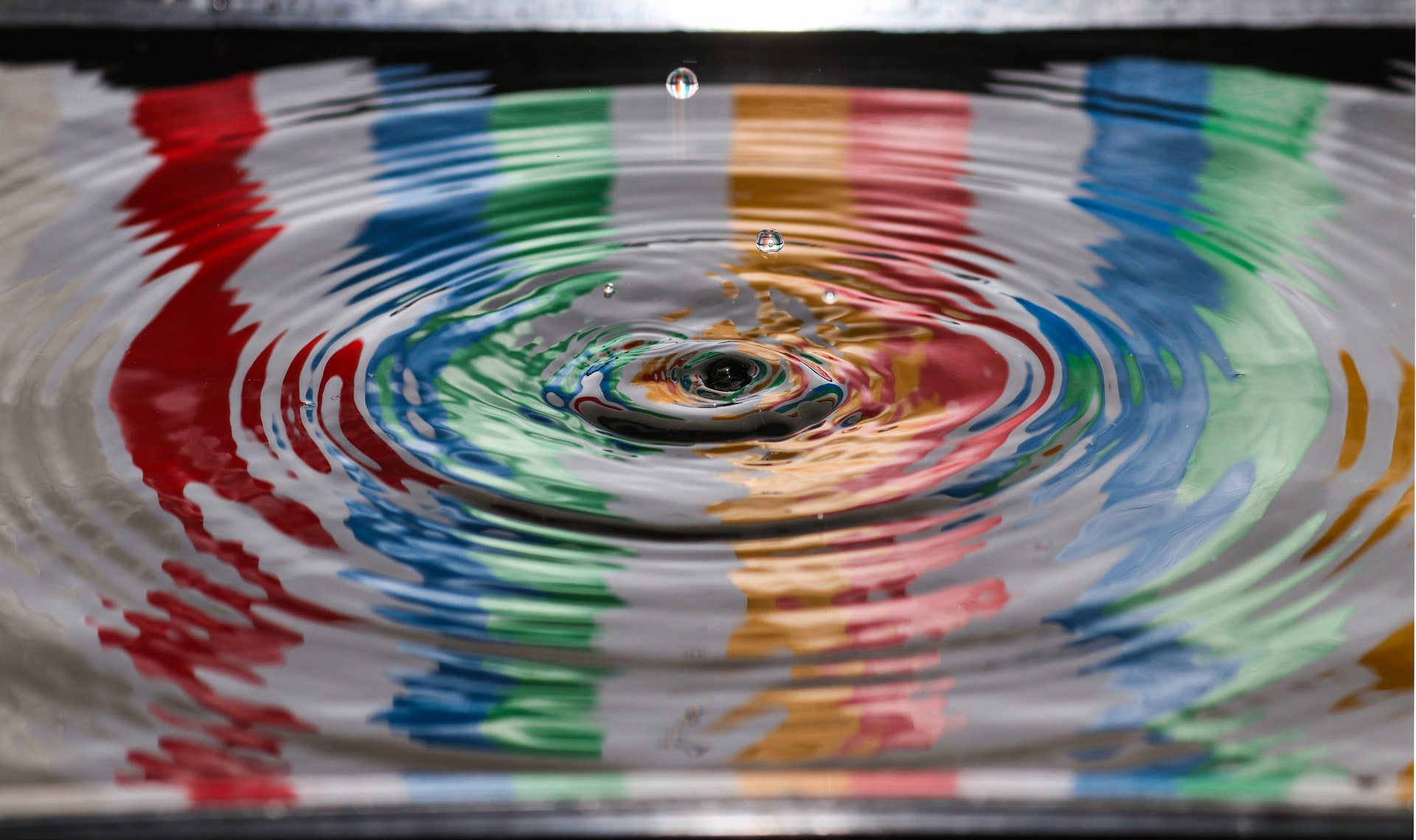 A ripple on the surface of water