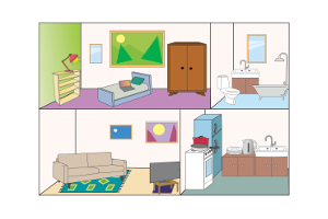 prepositions of place and the house a2 image